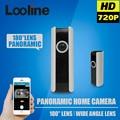 Panorámica ip wifi cámara cámara inalámbrica wi-fi camara fisheye de 180 grados de vigilancia de seguridad cctv motion detección cámara casera