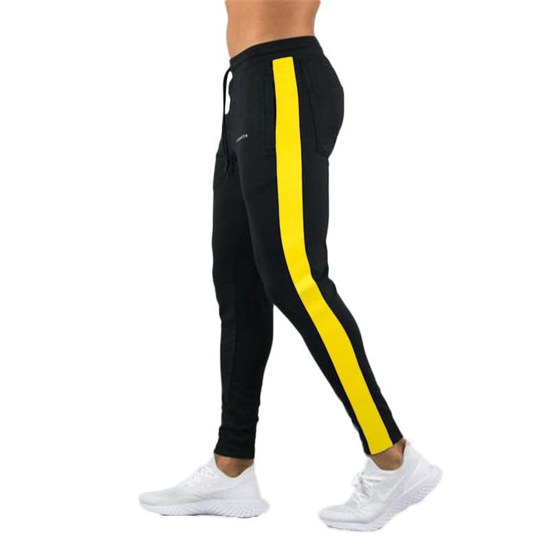 HTB14wyTXoz1gK0jSZLeq6z9kVXaQ ENJPOWER New Men Pants Hip Hop Fitness clothing Joggers Sweatpants Side stripe classic fashion Streetwear Track Pants Trousers