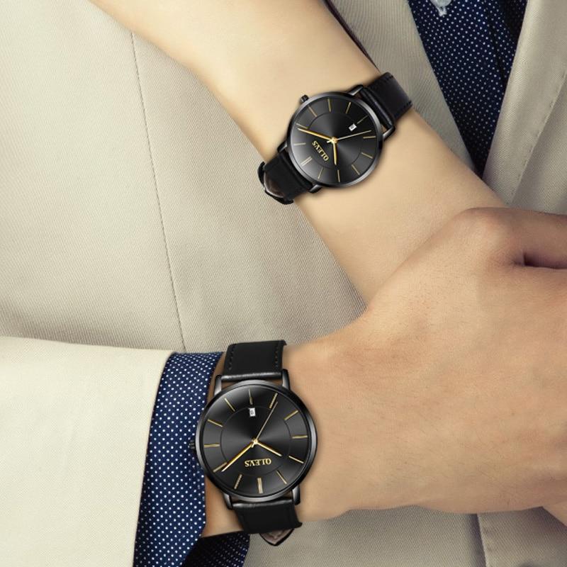 d11dede4a08 OLEVS Marca Relógios dos homens Calendário Casuais Relógio Feminino de Quartzo  Simples Display Automático Masculino Relógio de Pulso de Quartzo Assistir  ...