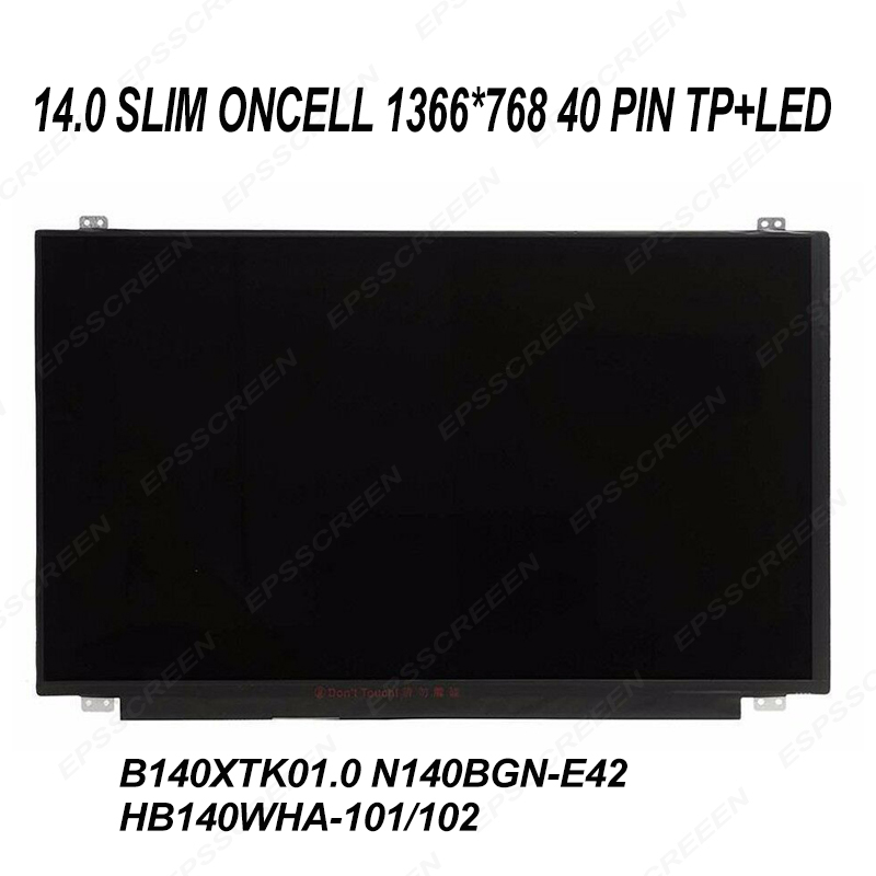 "14.0"" REPLACE FOR HP 14348-001 809581-391 813520-001 TABLET LED LCD Screen oncell touch digitized HD display panel"