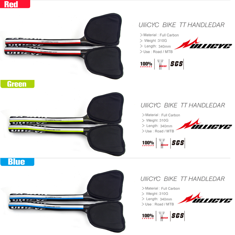 HOT SALE Trichromatic mixture Full carbon rest handlebar bicycle TT handlebar bar Superstrong Ultra light Road bike rest bar in Bicycle Handlebar from Sports Entertainment
