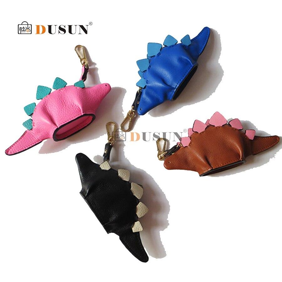 Portefeuille dinosaure Monedero carré vente Monederos Para Mujer Trousse Kawaii 2018 sac à clés en cuir Mini mignon pendentif Animal sac à main