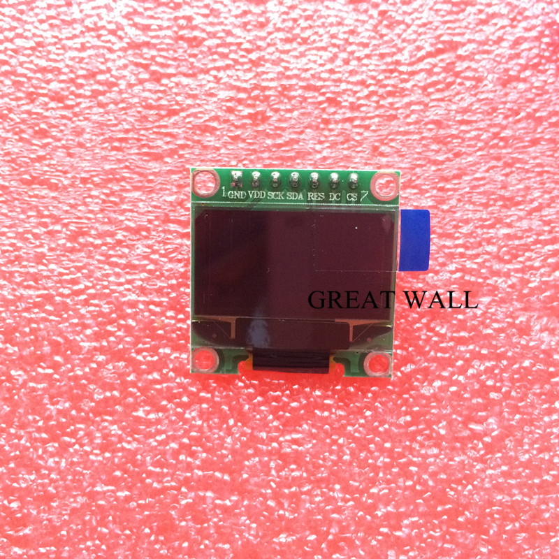 20pcs 7pin 0 96 White OLED module 128X64 OLED LCD Module For 0 96 SPI