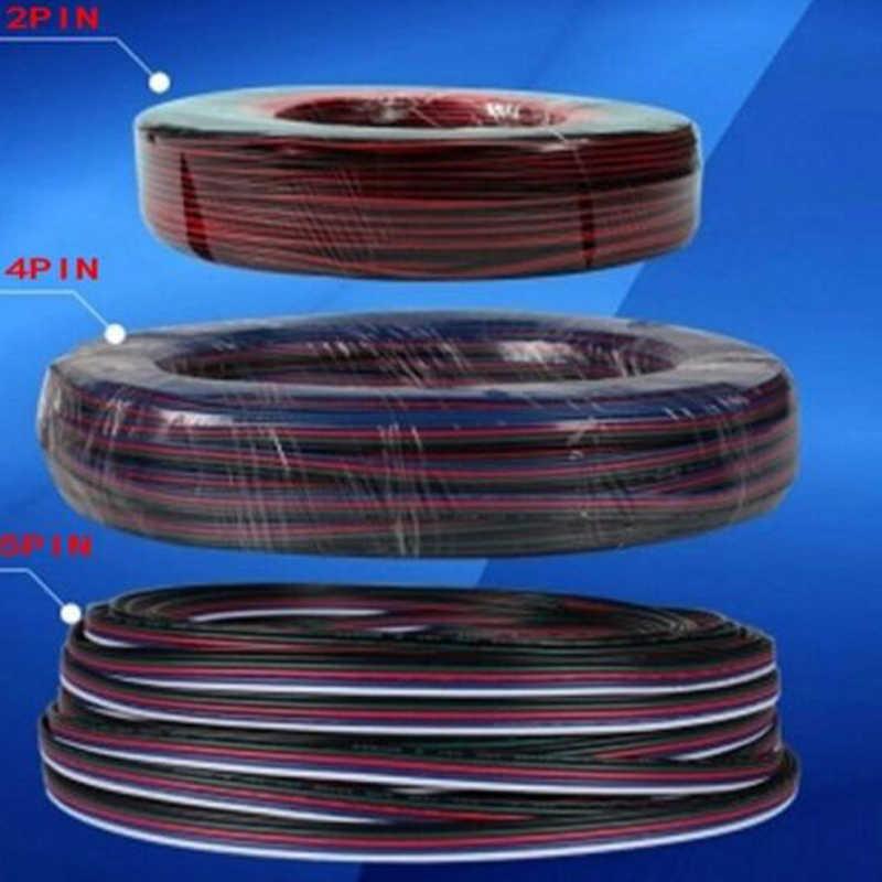 2 3 4 5 pin RGB RGBW rozszerzenie kabel zasilania Led pikseli drutu 22AWG/M