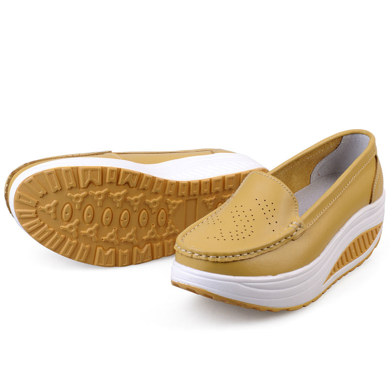 New Womens Shake Shoes Lady Genuine Leather shoes (44)