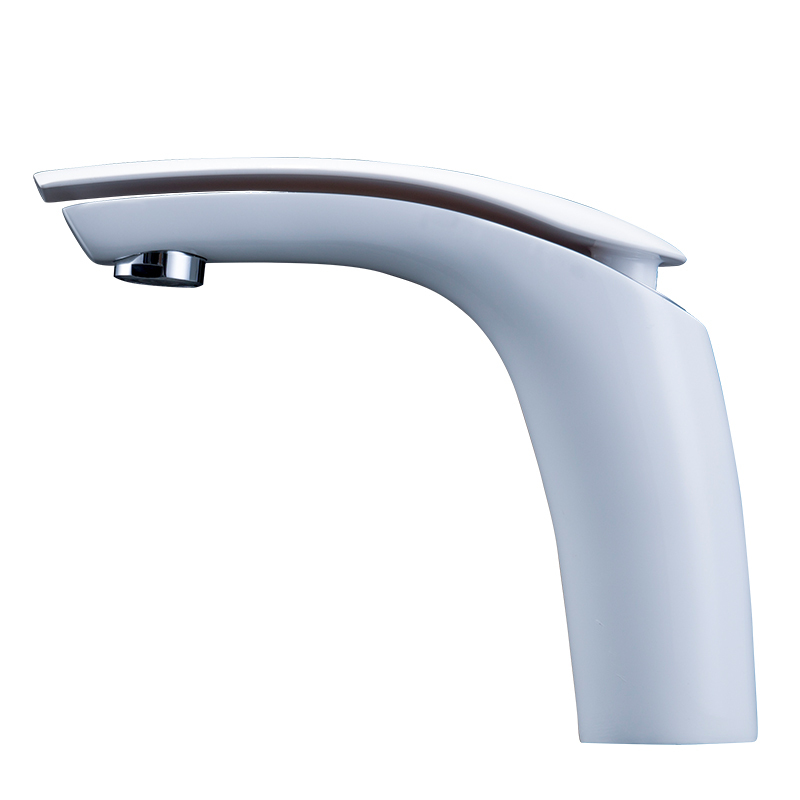 OTOL Customized Single Handle Hole Contemporary Washbasin White Taps Hot And Cold Waterfall Bathroom Faucet In Basin Faucets From Home Improvement On