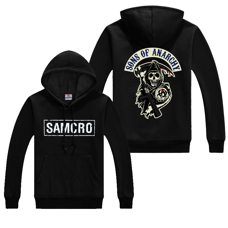 Autumn Sons Of Anarchy Coats Fashion SAMCRO Men SOA Sportswear Hoodies Male Casual Sweatshirts Hip Hop Print Long Sleeves Hoody