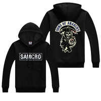 Autumn Sons of anarchy coats Fashion SAMCRO Men SOA Sportswear Hoodies Male Casual Sweatshirts Hip Hop print long sleeves Hoody
