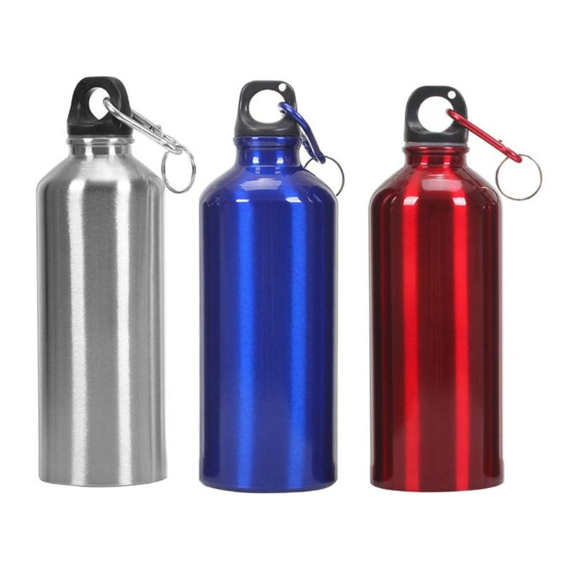 400-700ML Aluminum Alloy Portable Outdoor Travel Water Bottles Sports Flask PP