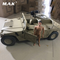 1/6 Collectible Solider Scene Accessories Diecast Sand Color Painting Hummer Military Truck Vehicle Model Toy for 12'' Figure
