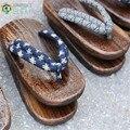 TAYUN Men  sandals ,2017 summer heel flip-flops man geta Japanese clogs wooden slipperes cosplay costumes shoes GETA-132