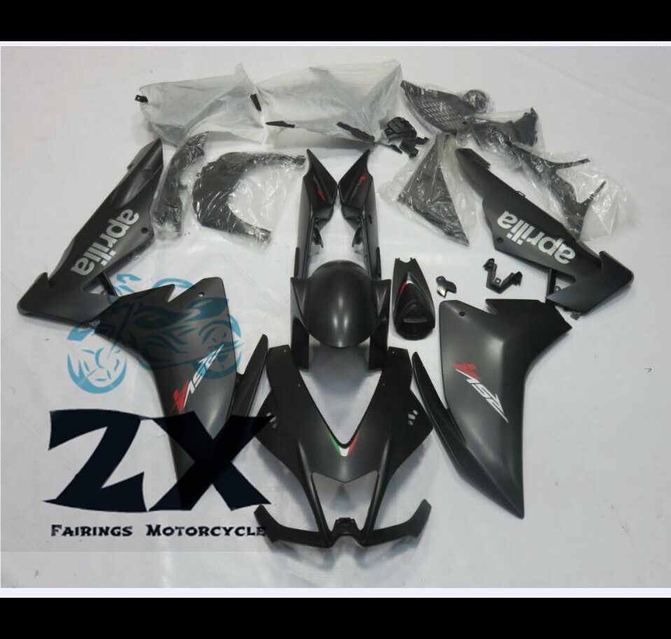 For Aprilia RSV4 1000 2009-2015 injection molding ABS Plastic motorcycle Fairing Kit Bodywork matte black