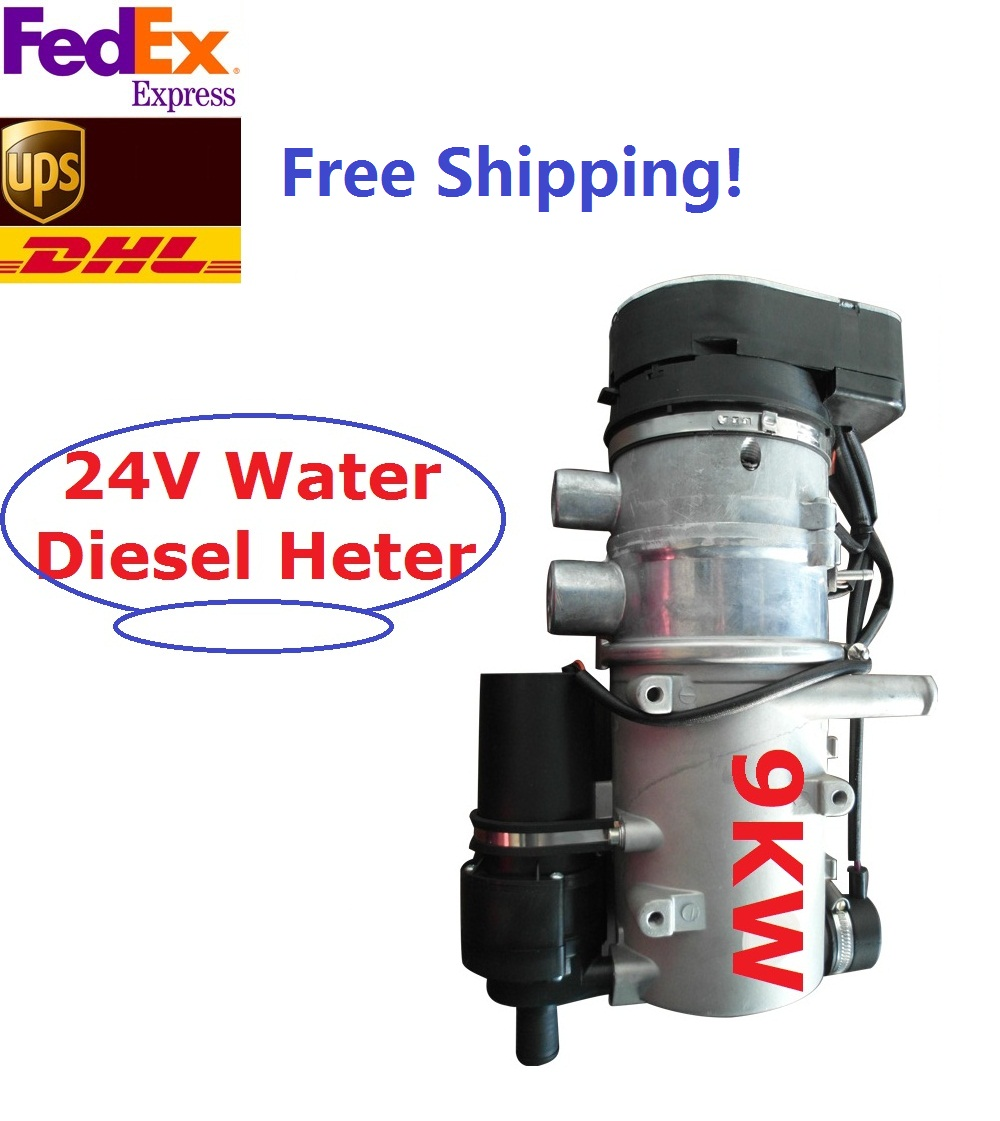 New 9kw 24V Water Diesel Heater For Bus Truck RV Motorhome Similar Webasto Heater Auto Liquid Parking Heater Free Shipping