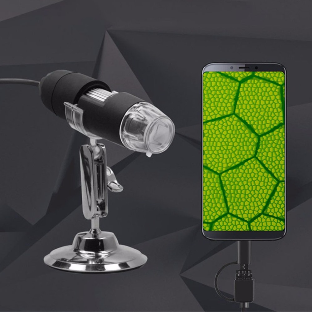 Portable USB Digital Microscope 1000X Electron Microscope with 8 LED Light Desk Loupe Long Distance Zoom