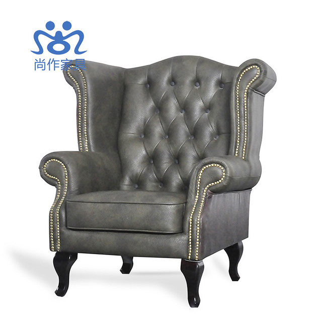 High-grade leather club chairs do the old antique sofa chair armchair tiger  European high - High Grade Leather Club Chairs Do The Old Antique Sofa Chair