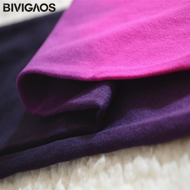 BIVIGAOS 120D Velvet Gradient Opaque Seamless Pantyhose Candy Color Tights 5