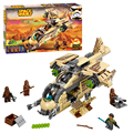 Bela 10377 Star Wars Wookiee Gunship Blocks Bricks Toys Set Boy Game Plane Weapon Compatible with Decool Lepin 75084