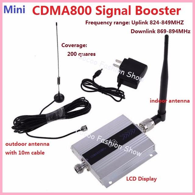 3g FDD GSM CDMA 850 MHZ Repetidor Impulsionador Do Telefone Móvel Repetidor de Sinal Celular Impulsionador Repetidor Amplificador + Tela LCD