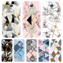 Back Cover For Huawei Honor 4X 5A 5X 6 6X Black Geometric Marble Silicone Soft Case For Huawei Honor 4C 5C 6C 6A Pro Phone Case(China)