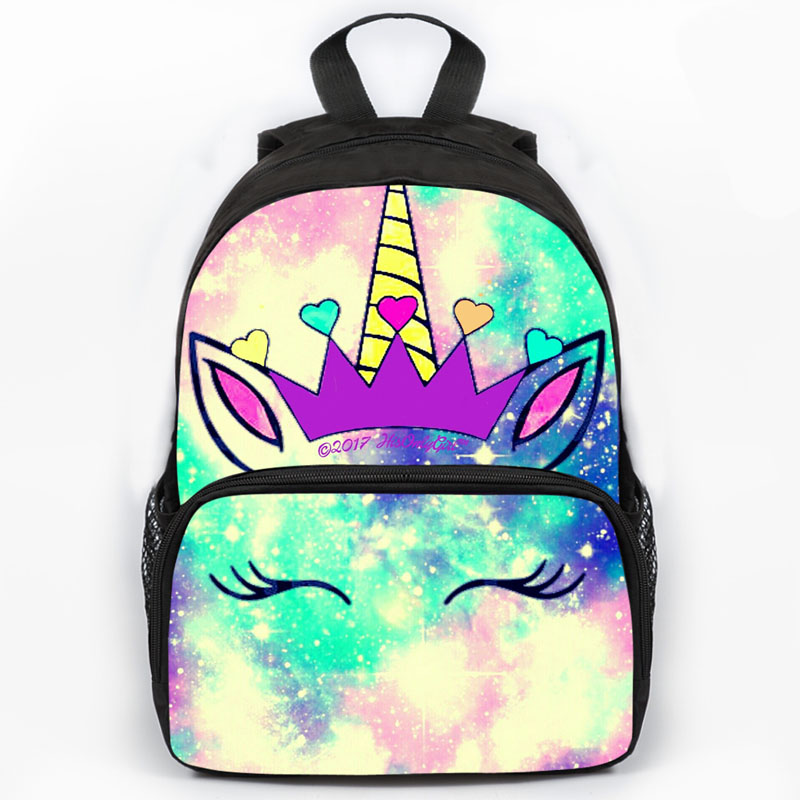13inch Dabbing Unicorn Backpack School Bags Cute Printed School Back Pack For Girls Bookbag Children Gift Customized