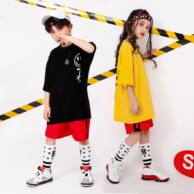 Boy Girl summer 2019 clothes Set 4 6 8 10 12 14 16T hip hop dance costumes kids Jazz set on the boy outfits kids clothes boys (9)