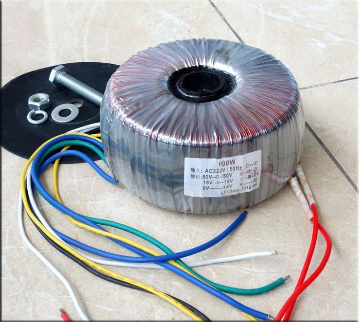AC220V 600W fine copper toroidal transformer 50-0-50 15-0-15 12-0 transformer For A4 Amplifier toroidal transformer ring copper custom transformer 54va toroidal output 12vac 0 12vac 12vac for 1969 power supply amplifier