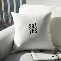 H3182 Simple Style Pillow Cover Decorative Pillow Cases Cotton Cushion Cover Sofa Pillows Bed Cushions Gift