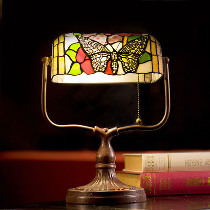 Tiffany Table Lamp Acryl Shade Butterfly Desk Lamp Europe