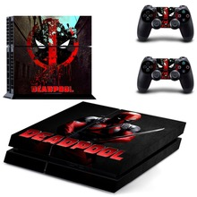 Vinyl Decal Skin Sticker Cover for Sony PS4 PlayStation 4 and 2 controller skins–DEADPOOL