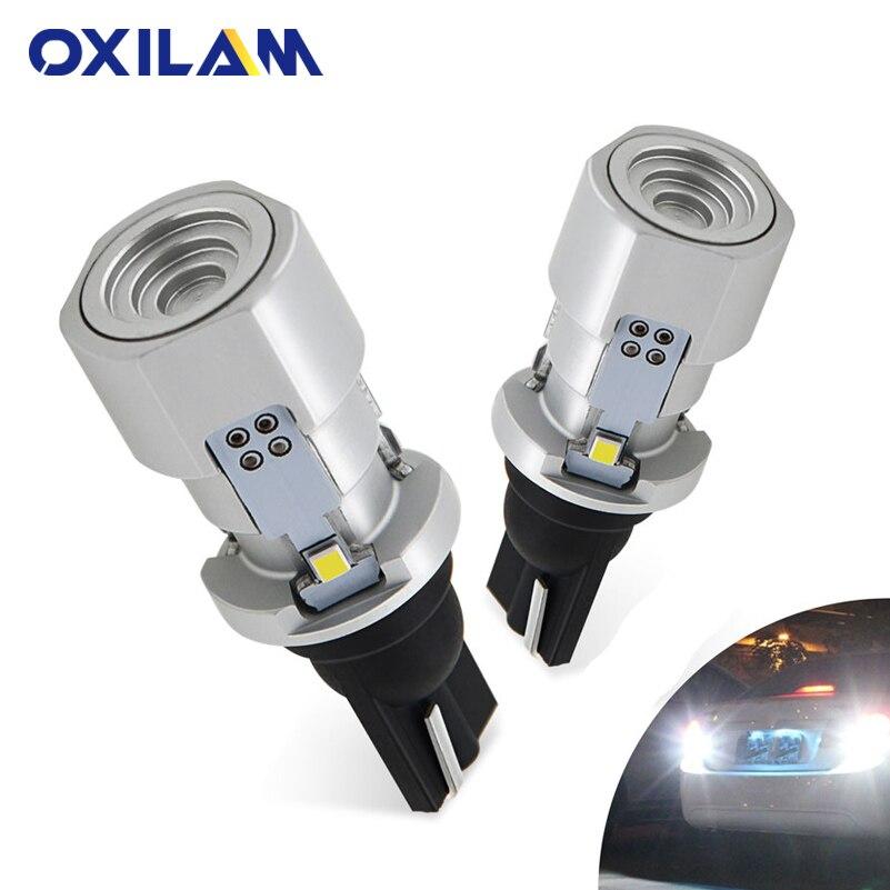 OXILAM 1200lm T15 W16W LED Canbus 921 912 лампа задсветильник хода с клиновидным цоколем, высокая мощность, суперъяркая внешняя лампа для автомобиля 6500K, бела...