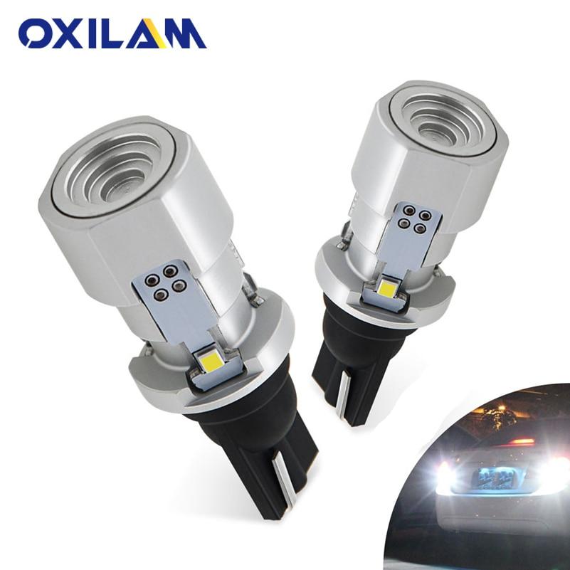 OXILAM 1000lm T15 W16W LED Canbus 921 cuña 912 Luz de marcha atrás bombilla de alta potencia Super brillante coche Exterior lámpara 6500 K blanco