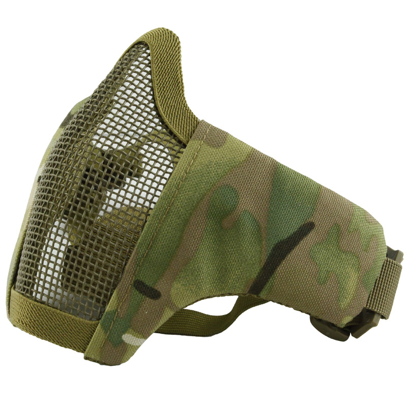 Hot sale Tactical PDW Metal Mesh Half Face folding Mask Hunting Protective Airsoft Mask CS Game Paintball Mask sw2009 tactic war game protective abs half face mask army green