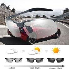 2017 New Photochromic Polarized Sunglasses Men's Sunglasses for Drivers Male Safety Night Vision Driving UV400 Sun Glasses