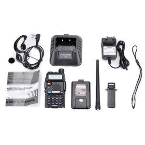Image 5 - 2 pezzi Baofeng UV 5R UHF VHF Walkie Talkie Dual Band Radio bidirezionale Comunicador autoradio stazione PTT Baofeng UV 5R UV 5R Woki Toki