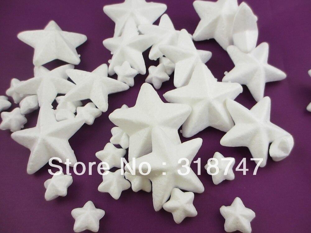 frete grátis mixed 3 5 7 cm tamanho natural estrelas de isopor branco para  acessórios para flores meia de nylon diy artesanato (48 pçs lote) 041005 d36bc098fa56f