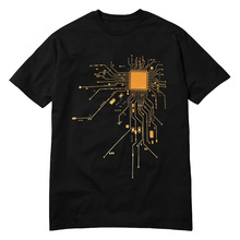 Super geek CPU Core / Circuit men T-shirt