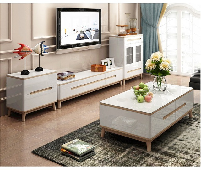 tv stand living room small contemporary decorating ideas minimalist designer wooden panel modern coffee table led monitor mueble cabinet mesa