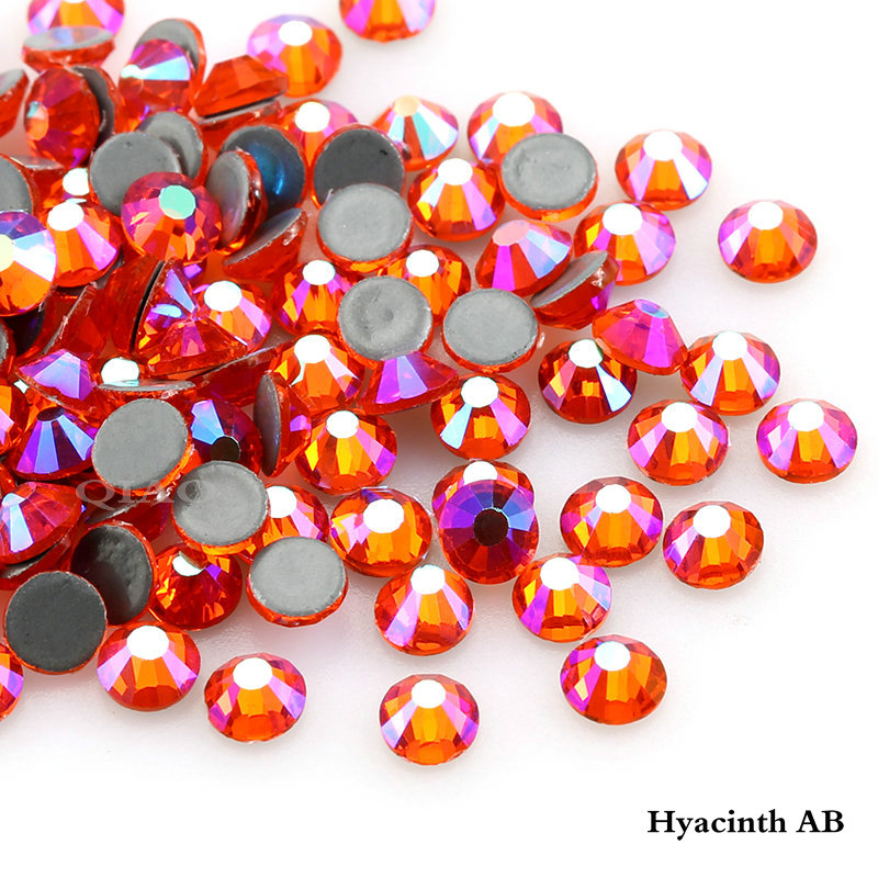 1440 pcs AAA Quality Hyacinth AB Crystals Glass Hot Fix Rhinestones For Clothing Decoration Garment Flat Back Iron On Rhinestone number