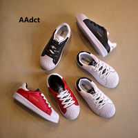 AAdct 2018 Girls White Shoes Spring Autumn Genuine Leather Running Sports Kids Shoes For Boys Sneakers