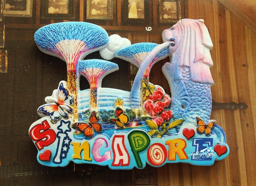 Singapore Merlion Park Tourist Travel Souvenir 3d Resin