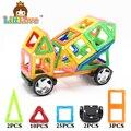 Littlove 42 unids mezclador magnético educativo bricks enlighten juguete de diseño cuadrado triángulo hexagonal 3d diy bloques de construcción