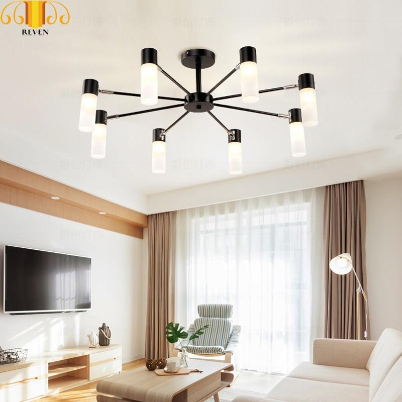 REVEN Oro Nero Moderne luci a sospensione per la sala da pranzo LED G4 lampadina - 5