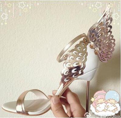 Showed Color Engelsflügel Rosa Heels Frauen Riemchen Sandalen as Alias Schuhe Pumps Glitter Evangelhongyi High Sommer Gladiator Color Hochzeit As aSwqdZZ