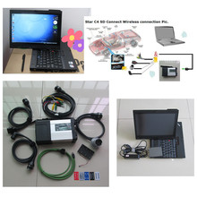 For MB Diagnostic tool MB Star C5 SD connect + X200t 4g Touch screen laptop + software 240GB SSD V2016.12 mb sd c5 ready to work