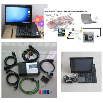 For MB Diagnostic tool MB Star C5 SD connect + X200t 4g Touch screen laptop + software 360GB SSD V2019.12 mb sd c5 ready to work