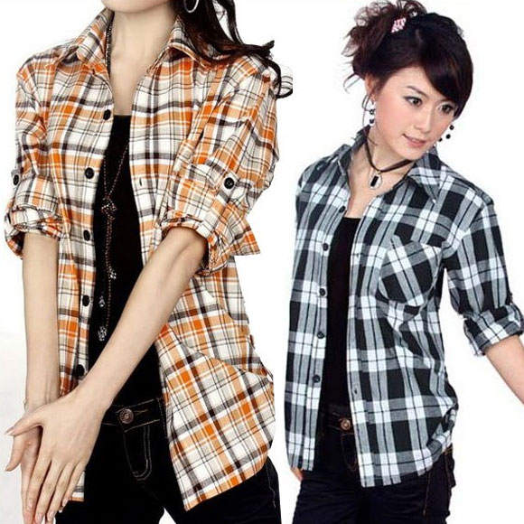Popular Ladies Checked Shirts-Buy Cheap Ladies Checked Shirts lots ...