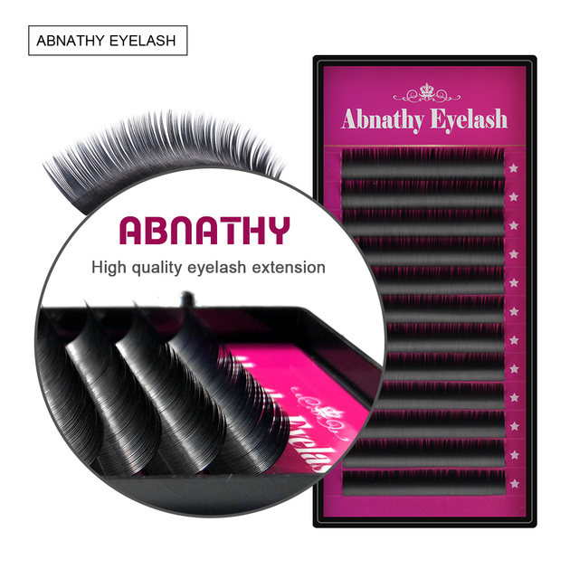 Charming Lashes All Size False Mink Eyelash Extensions Black Thick