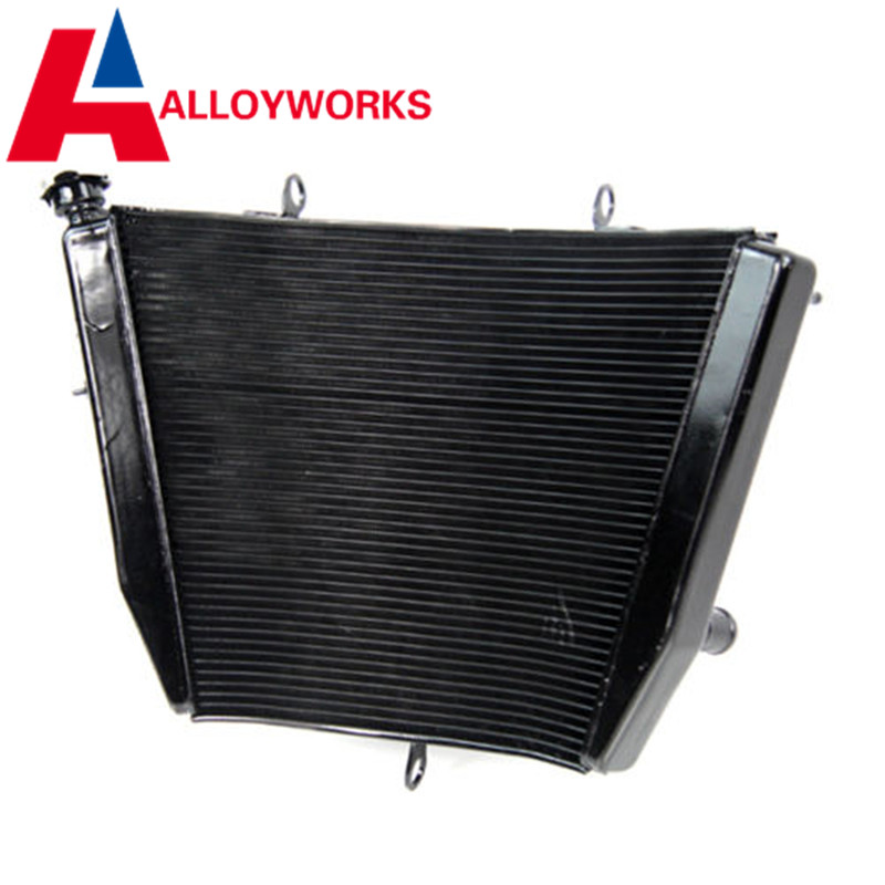 Motorcycle Cooling System Replacement Parts Aluminum Radiator FOR SUZUKI GSXR600 GSXR 600 750 2007 GSXR750 2006-2009 07 radiator cooling system for cfmoto cf250 t5 v5 parts number is 8050 180400