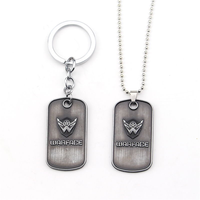 High Quality Warface Key Chain Key Ring Accessories New Arrival 2017 Black Silver KeyChains For Best Friends Stainless