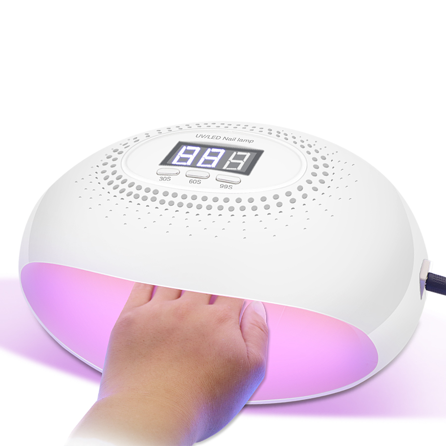 Careful 54w Nail Dryer Uv/led Nail Lamp Gel Polish Curing Light With Timer Button Lcd Display Manicure Tools Newest Sale Overall Discount 50-70% Beauty & Health Nails Art & Tools